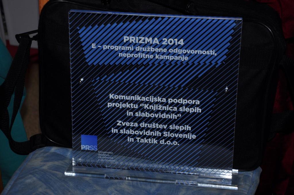 Podelitev nagrade Prizma